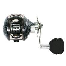 AI-SHOUYU New Baitcasting Fishing Reel 13+1 High Speed Aluminium Alloy Body 6.3:1 for Light Jigging with Crank Handle