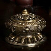Retro Censer Classical Copper Alloy Antique Incense Simple Aromatherapy Burner  S