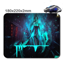2016 New Products DIY 3D Fast Printing Girl Blue Mouse Pad Custom Rubber Gaming Laptop Computer Mouse Pad As Gift