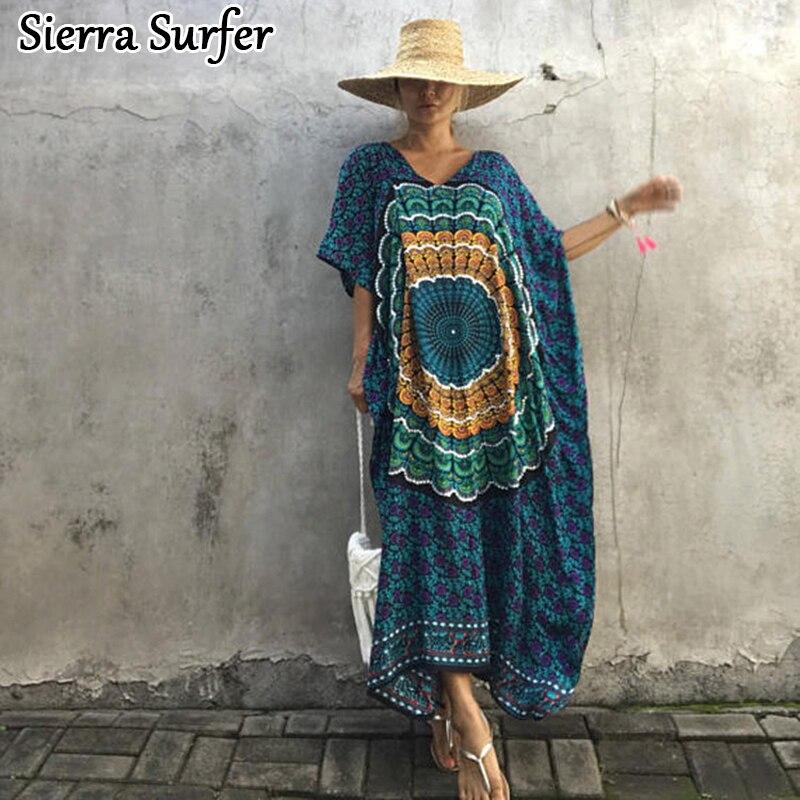 330287a1a7e9b Detail Feedback Questions about Saida De Bath Swimwear Female Summer Beach  Dress Cover Up Tunic Cape Women New Thailand Indonesia Bat Long Sleeve Print  ...