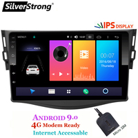 SilverStrong Android9.0 ips автомобиль dvd 4G для Toyota RAV4 Rav 4 2006 2012 2din 1024*600 gps навигации Wi Fi нет DVD