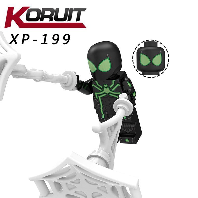 Single Sale Compatible LegoINGlys Far From Home Spider-man Armor Cyborg Venom Battle Suit Building Blocks Toys For Child Kt1027