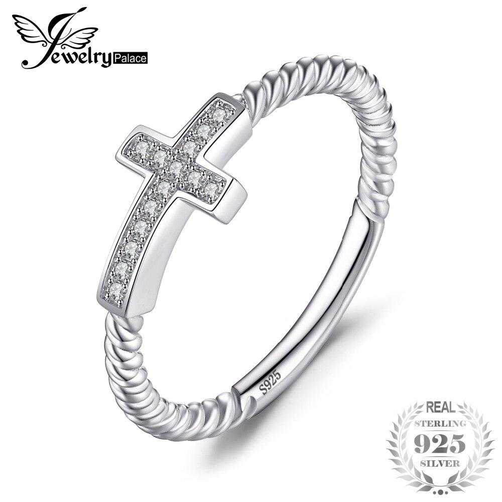 جواهراتPalace حلقه صلیب زیرکونیا کراس - جواهرات مد