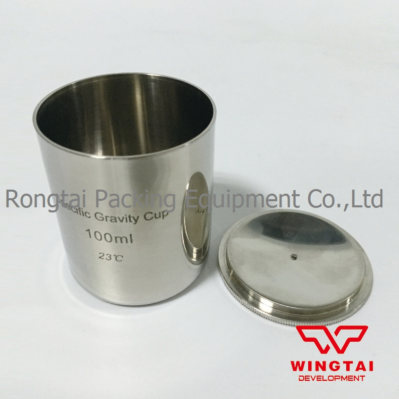High Quality Stainless Steel Density Cup 100ml Capacity BGD296/5 Specific Gravity Cup high quality 37ml stainless steel density specific gravity cups with din 53217 iso 2811 and bs 3900 a19 standard
