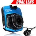 Original Novatek Mini Car DVR GT300 Dual Camera Lens Full HD 1080P Video Registrator Night Vision Black Box Two Car cameras