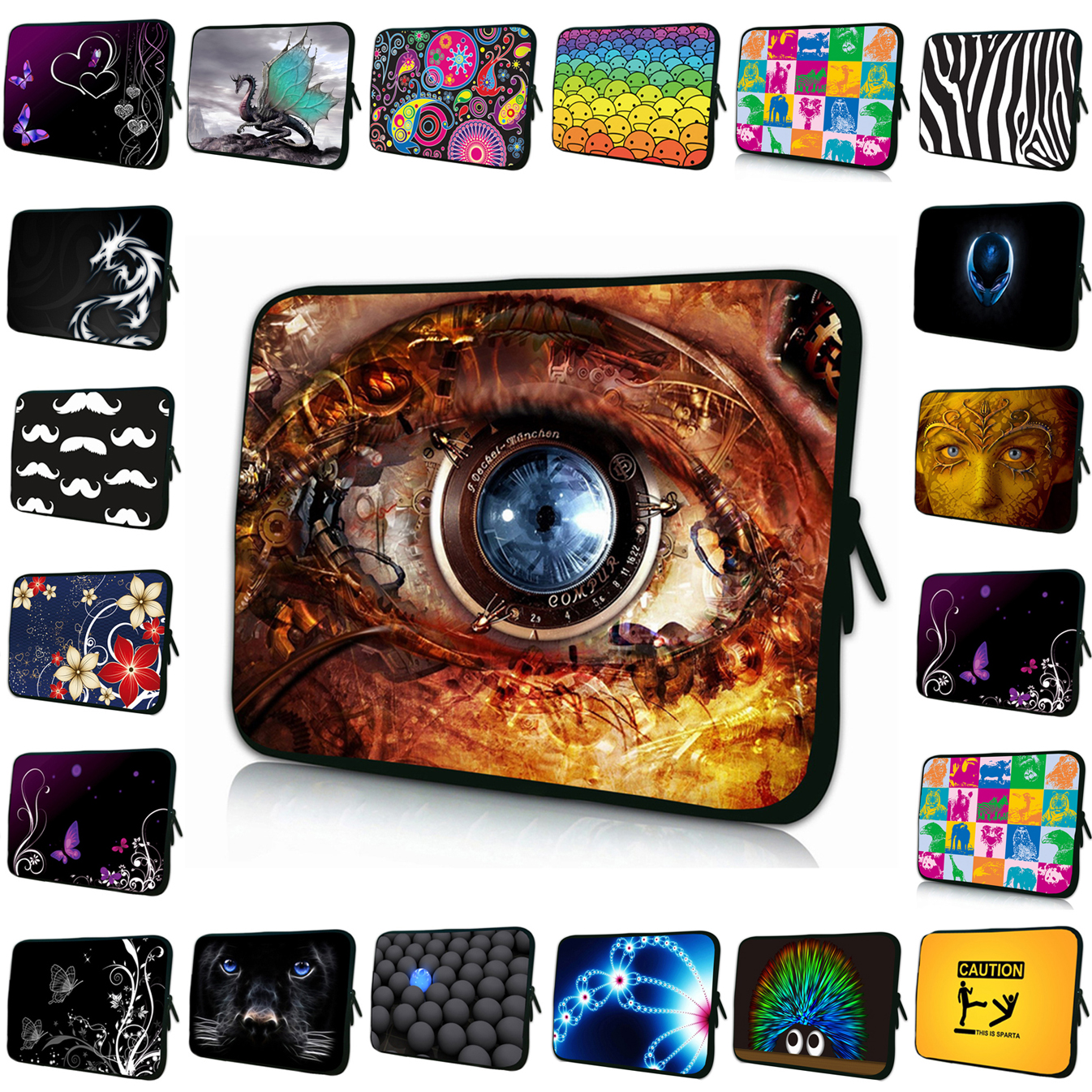13 15 14 17 12 Inch Laptop Sleeve Bags For Teclast Chuwi hi10 HP Envy Asus Case 10 9.7 10.1 8 7.7 7 Inch Universal Tablet Cases