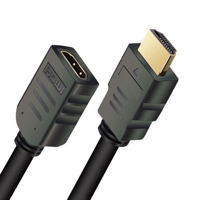 Удлинительный кабель, совместимый с HDMI, штекер-гнездо, 1 м/2 м/3 м/5 м, HDMI 4K * 2K 3D HDMI, расширенный кабель для HD TV, LCD, ноутбука, проектора PS3