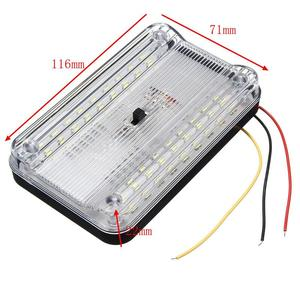 Image 2 - 36LED Auto Interieur Lichtkoepel ABS Wit Plafond Lamp voor 12 V Marine Boot Camper Accessoires