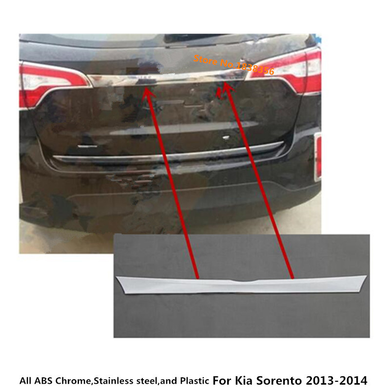 For Kia Sorento 2013 2014 Car Stick body stainless steel Rear back door tailgate bumper frame plate trim lamp trunk Lid 1pcs 1pices black high quality new 7 9 inch lcd display for ipad mini2 replacement lcd screen panel with free tools for ipad mini 2 page 5