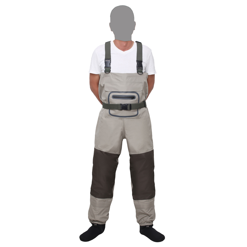 Fly fishing Breathable Chest Waders Rafting wear waterproof wader trousers Hunting wading pants overalls with Stocking Foot rafting wear waterproof wader stocking foot chest waders for hunting fly fishing wader