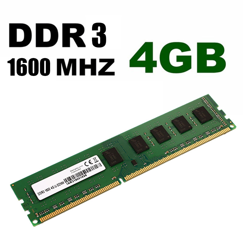 Mémoire d'ordinateur de bureau 1600 Mhz RAM 4 GB DDR3 bureau serveur magasin haute vitesse PC mémoire de stockage jeu pour bureau