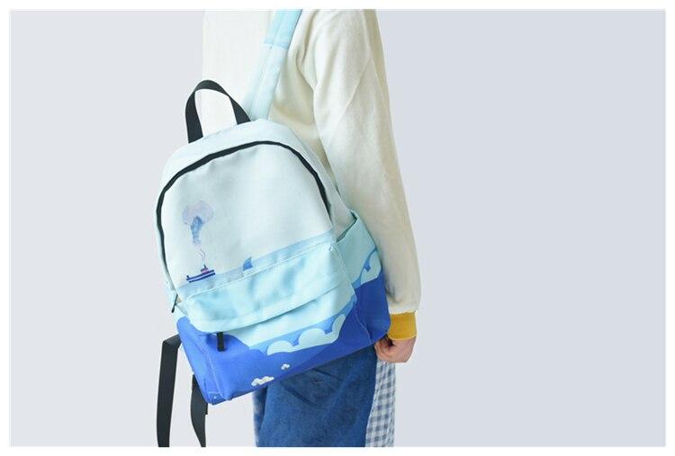 HTB1zv8JVNnaK1RjSZFtq6zC2VXaP Moon Wood Original Design Black Blue Print Sea Moon Backpack Women Casual Canvas Backpack School Bags For Teenager Girls Sac