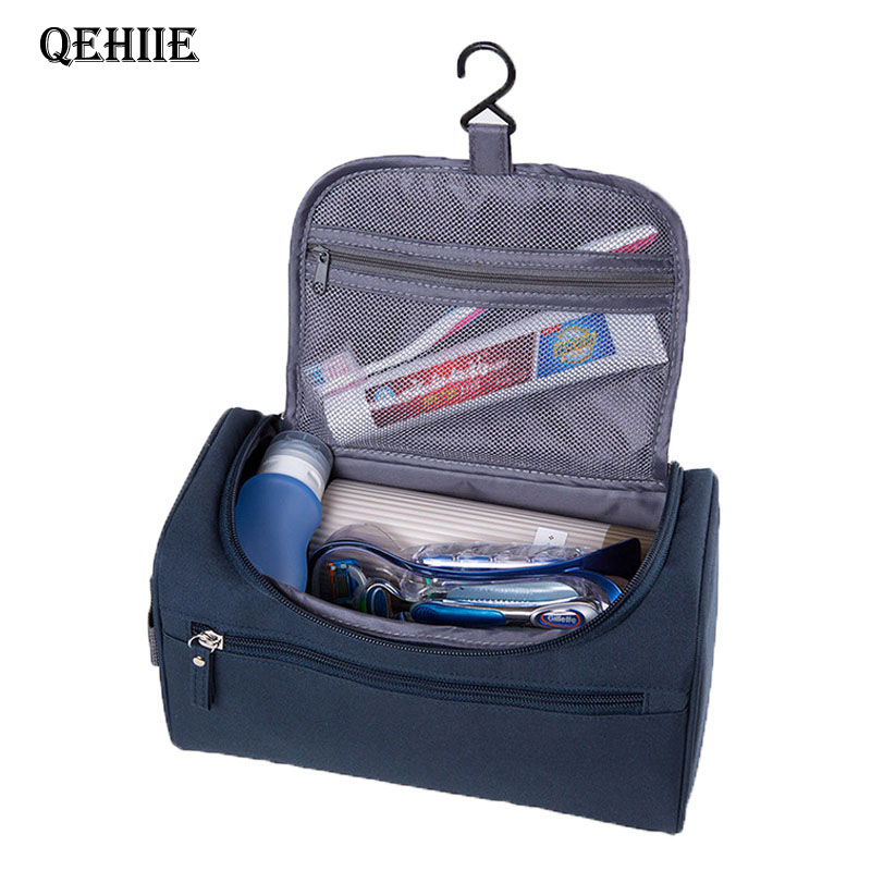 Qehiie brand makeup bag travel organizer hanging nylon makeup bag men 39 s large beautician for Travel gear brand