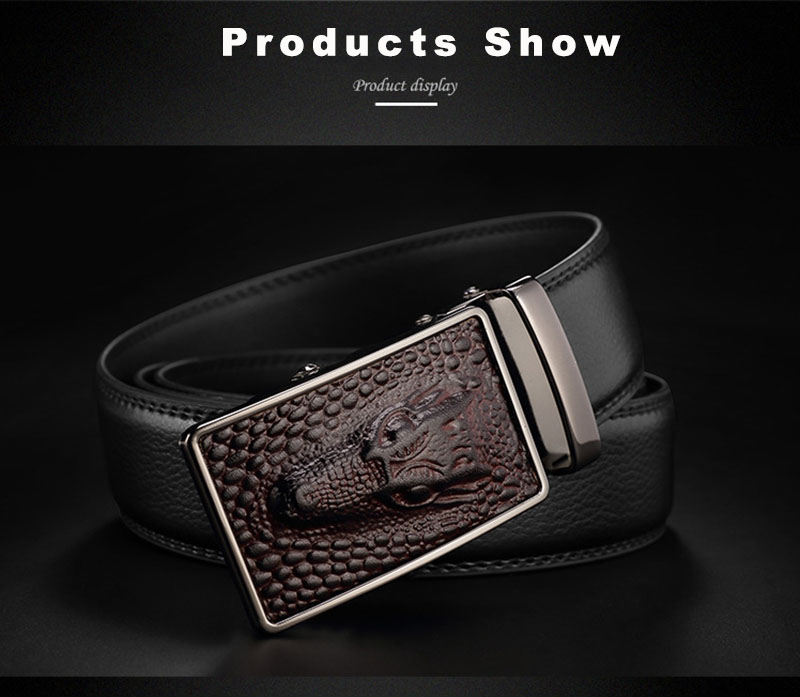 Back To Search Resultsapparel Accessories Fajarina Quality Crocodile Pattern Genuine Leather Cowhide S Letter Stainless Steel Automatic Buckle Metal Belts For Men Zdfj177