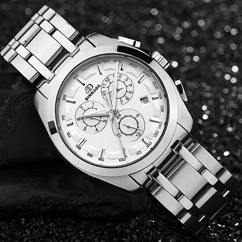 Męski automatyczny mechaniczny zegarek skórzany pasek - Męskie zegarki - Zdjęcie 5