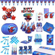 Spiderman birthday party supplies Tableware Plate Cup Napkin Balloons Baby Shower party spiderman party Decoration for Kids spiderman birthday party supplies tableware plate cup napkin balloons baby shower party spiderman party decoration for kids