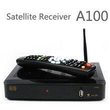 2 unids envío gratis S-A100 Android TV Box WebTV caja S-A100 fósforo con receptor de satélite