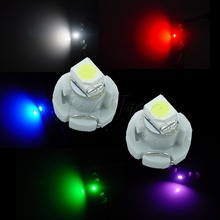 10PCS T3 12V Neo Wedge For Auto Car Vehicle Pinball Machine Dashboard 3528 SMD LED Bulbs 5 colors Set