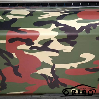 ORINO Army Green Car Sticker Wrap Camouflage Vinyl Film Foil Air Release Free Military Vehicle Car Roof Hood Sticker Wrapping