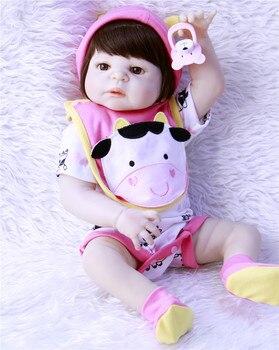 22 inch57cm Full Silicone vinyl Reborn Baby girl Dolls NPK Brand kids toys Gift Brinquedo bonecas bebes reborn menina