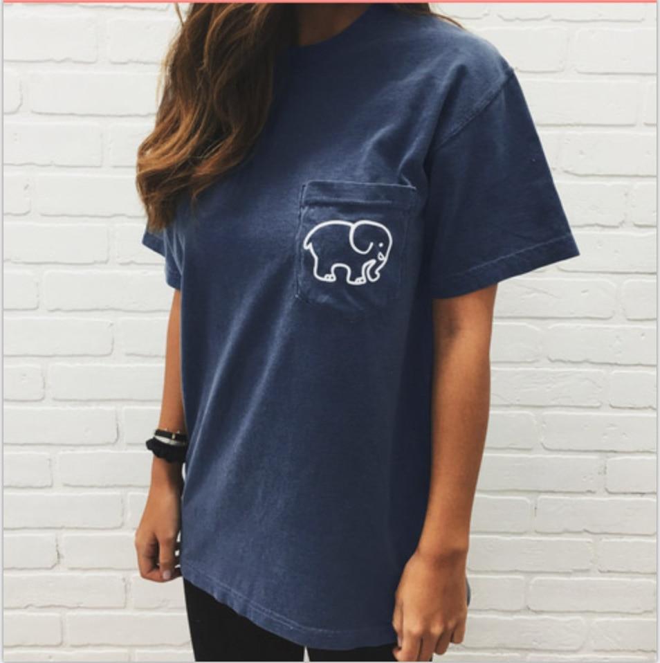 5768964758e44c ZYFPGS 2018 Spring Summer Streetwear T Shirt Women Letter Elephant Fashion  Woman Shirt  D0113-in T-Shirts from Women s Clothing on Aliexpress.com