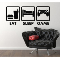 Cool Boy S Bedroom Wall Controller Joysticks Video Game Eat Sleep Game Xbox Vinyl Decal Home