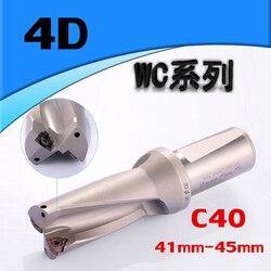 WC C40 4D SD 41 42 43 44 45mm U wiercenia płytkich otworów wkładki wiertła wiertła typu dla WCMT080412 wkładka|Wiertła|Narzędzia -