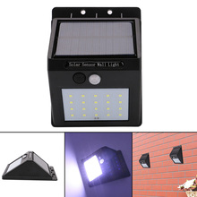1pcs LED Outdoor Wireless Solar Powered PIR Motion Sensor Light Wall Light Led Lamp