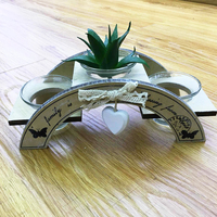 Nuovo ponte fiore pentola titolare Garden Desktop decorazione della stanza nuziale Buona Quantità Micro Vasi di Fiori Decorativi Regalo Fatto A Mano