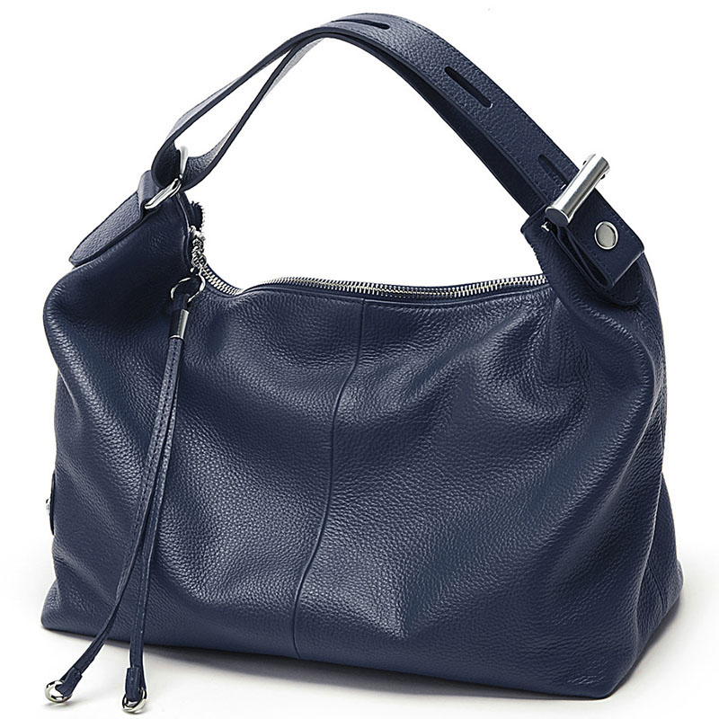 100% Genuine Leather Handbag Designer Women Bag Shoulder Bags Messenger Crossbody Bags High Quality Luxury Brands Hobos Totes-in Shoulder Bags from Luggage & Bags    1