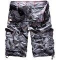 2017 del verano del estilo Militar de camuflaje pantalones cortos ocasionales de los hombres pantalones cortos de ejercicio overoles de algodón pantalones Hasta La Rodilla masculinos cortocircuitos de la playa