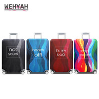 Wehyah Elestic Lycra Travel Luggage Cover Suitcase Covers Travel Accessories Printed Dust Cover 18'' 32'' Protective Case ZY112