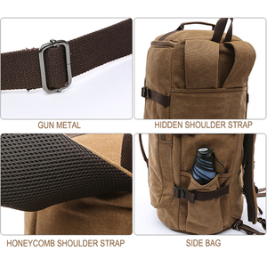 Image 5 - スナップツアーキャンバストラベルバッグ男性大容量男性手荷物一晩ダッフルバッグ週末ファッション旅行