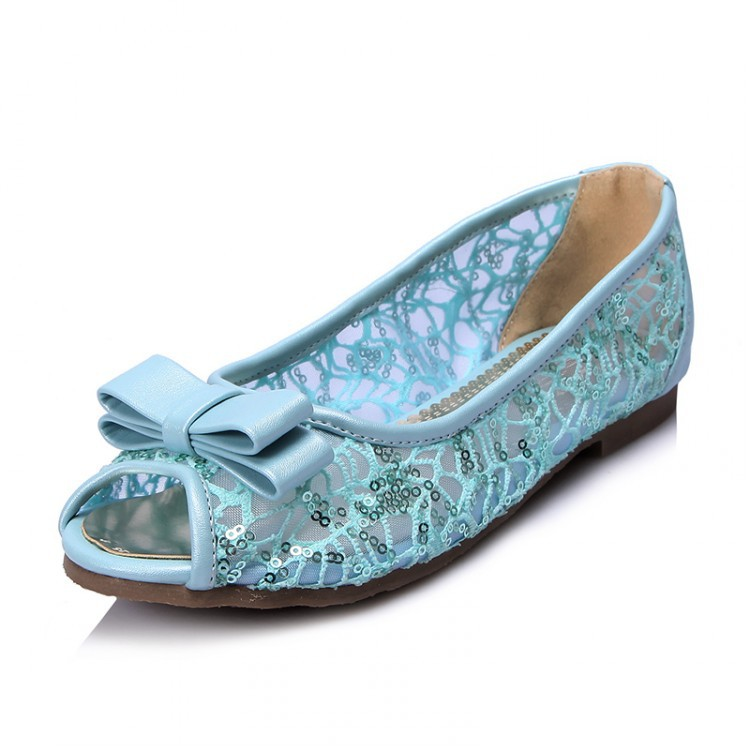 2017 New Woman Peep Toe Flats Shoes Ladies Slipony Lace Bling Summer Breathable Shoes Sequins Grenadine Shoe For Women Sexy Big gold sliver shoes woman for 2016 new spring glitter bling pointed toe flats women shoes for summer size plus 35 40 xwd1841