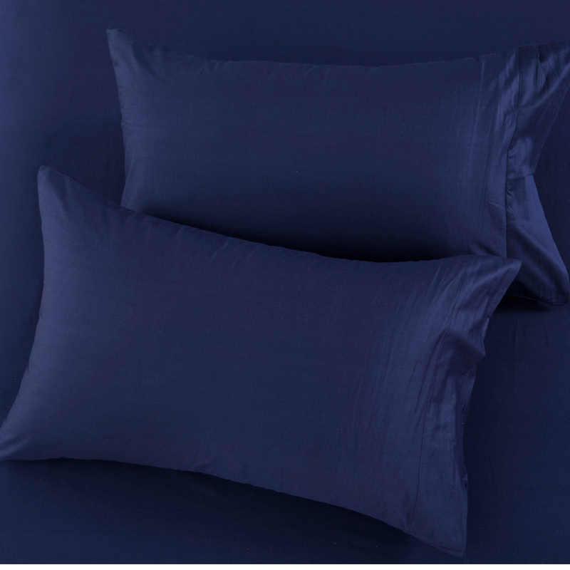 2019 100% хлопок сплошной цвет кровать, наволочка 48*74 см прямоугольная розовый/синий/серый наволочка спальный Наволочка на подушку