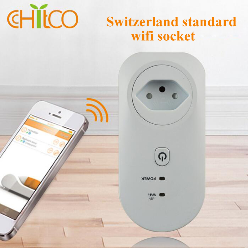 ФОТО New arrival Swiss standard wifi socket remote control smart home free app control ios/Android Free shipping