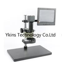 2.0MP CMOS VGA Digital Video Microscope Camera + 144 LED Ring Light + Large Stand + 180X / 300X C Bayonet Lens + 8 LCD