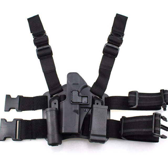 Quick Drop Tactical Gun Holster Military Airsoft Gun Hunting Pistol Leg Holster Glock 17 19 22 23 31 32 Left /Right Hand Holster 5