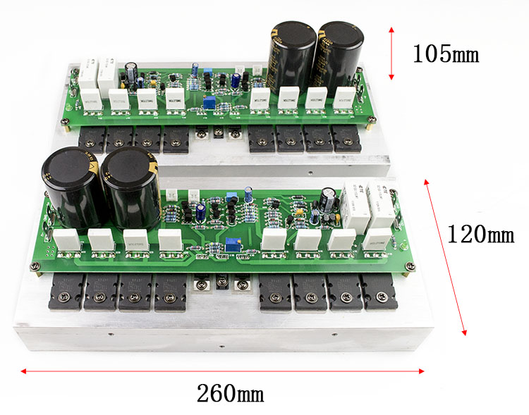 Assembled Top configuration PR-800 1000W Class A and B professional stage fever 1000W power amplifier board finished board fever class single channel lm3886tf power amplifier board finished board can be parallel to the classic circuit