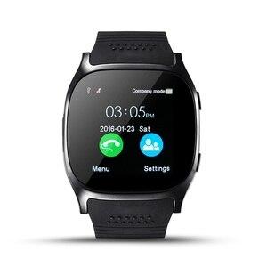 Image 4 - Stepfly reloj inteligente T8 con Bluetooth, dispositivo con cámara, Facebook, Whatsapp, compatible con tarjeta SIM, TF, llamadas, teléfono Android, PK DZ09 Q18