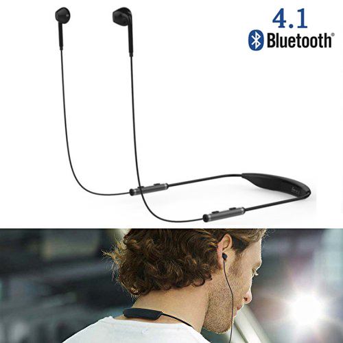Neckband Sports Sweatproof Bluetooth Headphone Wireless Stereo Headset NFC Earphone Earbuds Microphone for IOS Android Phones PC dhl free ship new professional sports music mask headphone bluetooth 4 0 with microphone for android ios phones support calls