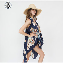 8914a72a6e Women Beach Cover Up Floral Print Sunproof Bikini Swimsuit Various Ways Of  Wearing Bathing Suit Coverups Scarf Long Shawl Wrap