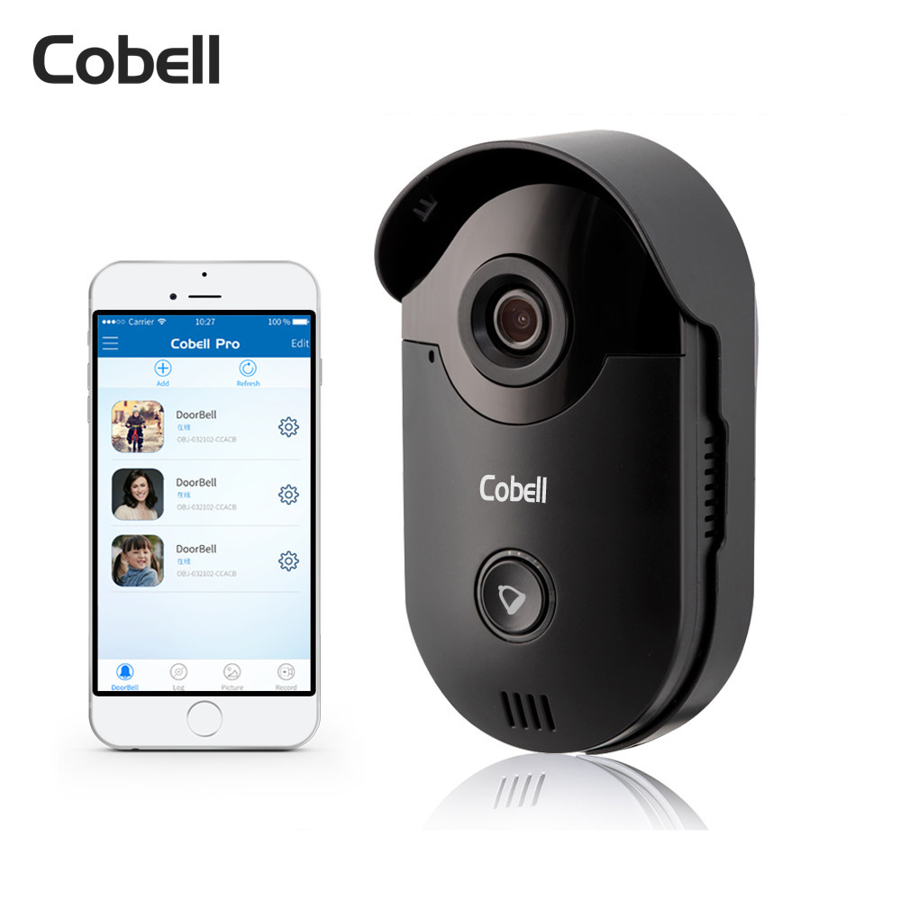 Cobell Wifi Doorbell HD 720P Wireless Video Door Phone Intercom Motion Detection Alarm Remote Control For IOS Android 2016 new wifi doorbell video door phone support 3g 4g ios android for ipad smart phone tablet control wireless door intercom