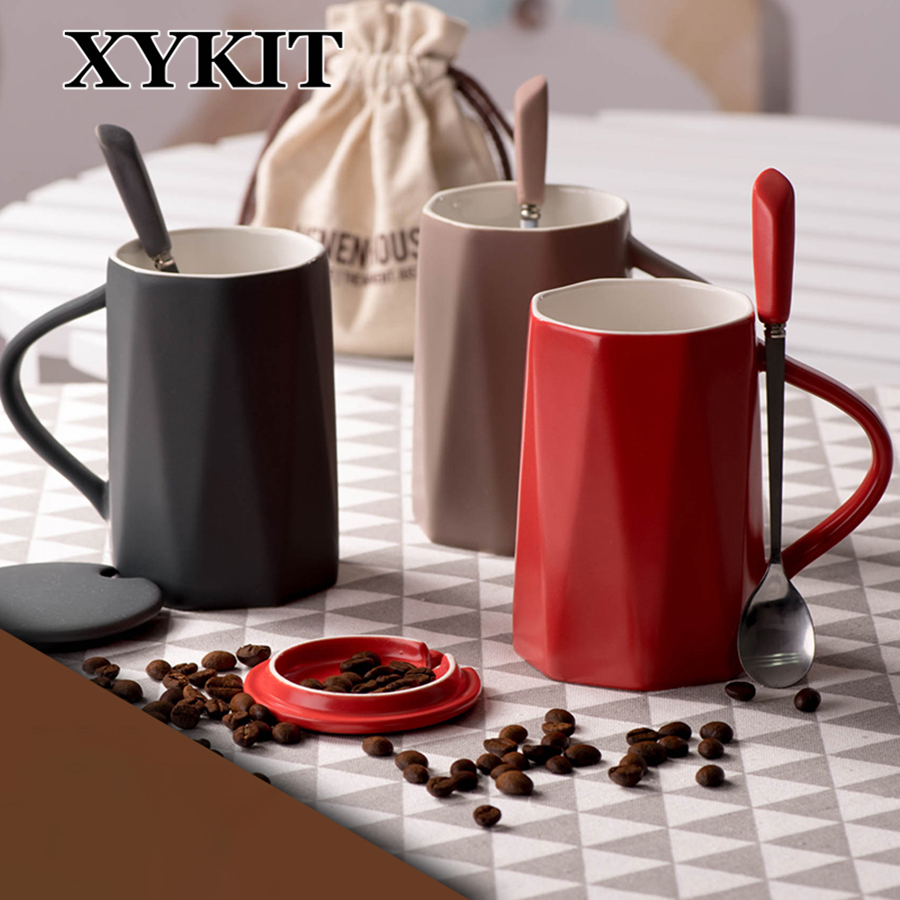 XYKIT 380ml Geometric Figure Mug Coffee Tea Cup Home Office Drinkware Unique Birthday Gift Girl Friend