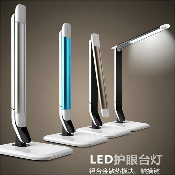 Новый сплав настольная лампа eyeshield затемнения touch Настольные лампы Цвет температура регулируется высокой моды светодиодный свет подарок на... ...