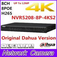 Free Shipping New Dahua 8CH 1U 4K H 265 1080P NVR Support 2HDD 8 Poe Port