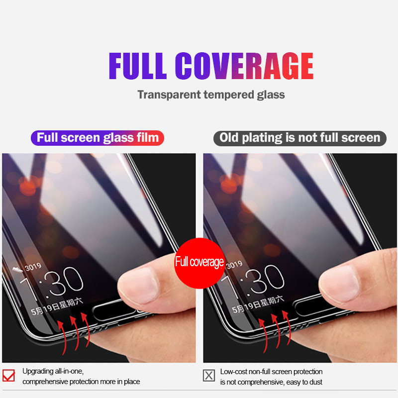 Image 2 - H&A  Cover Tempered Glass For Huawei P30 P10 P20 Lite Plus Protective Glass For Huawei P20 Mate 20 Lite Pro P Smart 2019 Glass-in Phone Screen Protectors from Cellphones & Telecommunications
