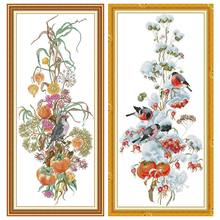 Joy Sunday,Flowers,cross stitch embroidery set,printing cloth embroidery kit,needlework,DIY cross stitch embroidery kit joy sunday magnolia flower cross stitch embroidery set printing cloth embroidery kit needlework flowers picture cross stitch kit