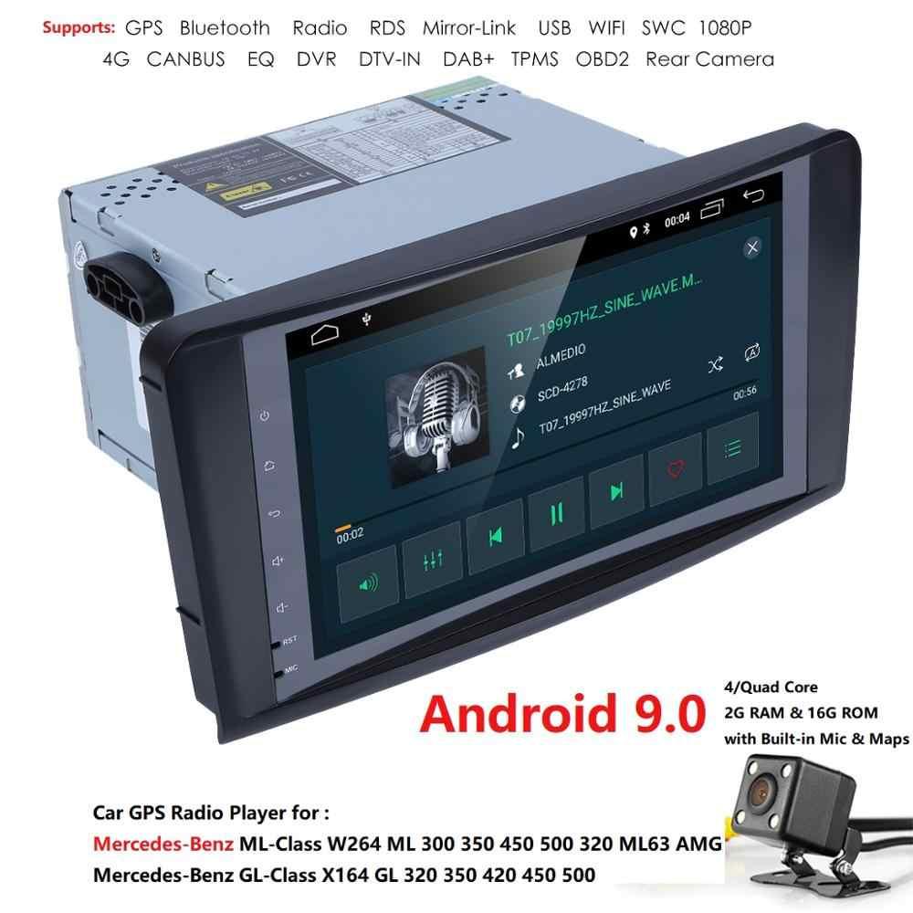 2 + 16 アンドロイド 9.0 車 AutoAudio プレーヤー gps ベンツ ML 320/ML 350/W164 (2005 -2012) マルチメディアナビゲーションヘッド装置ユニット受信機