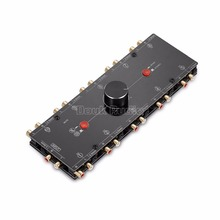 Nobsound 1 In 10 Aus 3,5mm/RCA Mono/Stereo Analog Audio Switcher Selector Splitter Preamp
